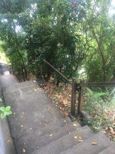 Escada de acesso ao píer