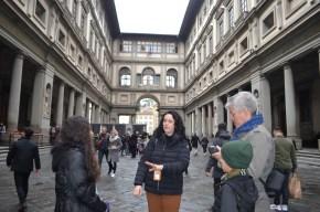 Corredor Vasari na Galleria Uffizi