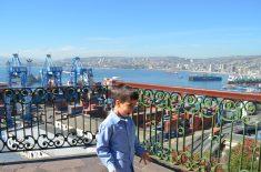 Vista do porto em Valparaíso