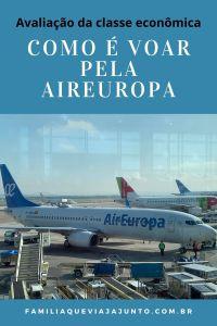 Como é voar pela AirEuropa: avaliação da classe econômica