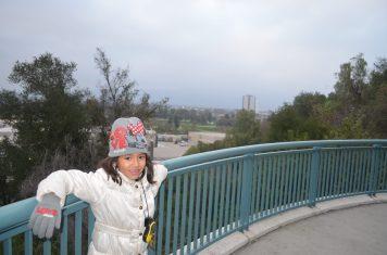 As crianças também aproveitam as paisagens do Universal Studios Hollywood
