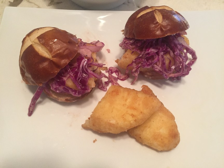 Alaska Cod Burger with Spicy Slaw