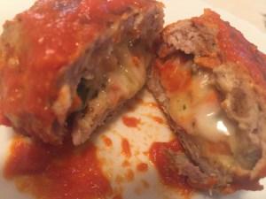 Cheesy Stuffed Meatballs