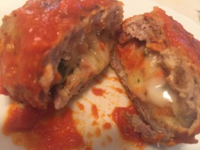Cheesy Stuffed Meatballs
