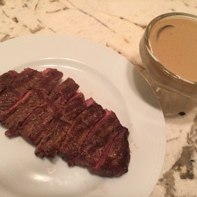 Top Blade Steak with Madeira Sauce
