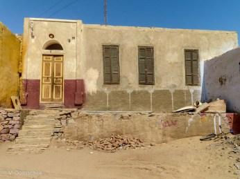 Ein Wohnhaus im nubischen Dorf