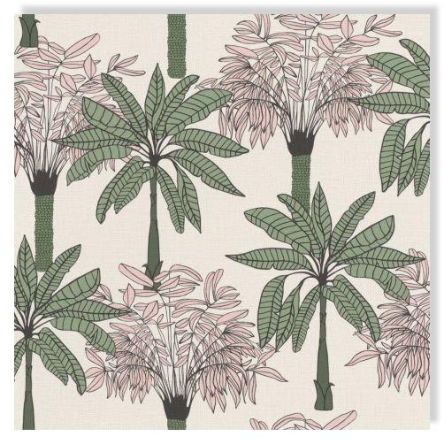 rasch papier peint 537819 club botanique palmiers vert blanc saumon non tisse ebay