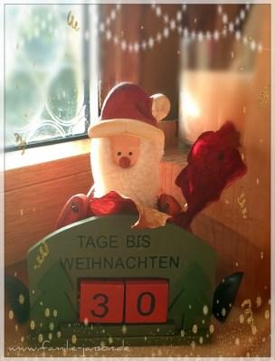 Nikolaus mit Zähler - 30 Tage bis Weihnachten