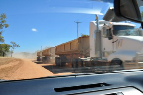 (C) Jule Reiselust: Roadtrain bei Chillagoe/Queensland