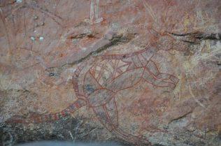 (C) Jule Reiselust: Walabi in Aboriginal Art Gallery im Kakadu NP