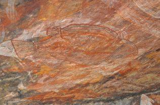 (C) Jule Reiselust: Barramundi in Aboriginal Art Gallery am Ubrirr