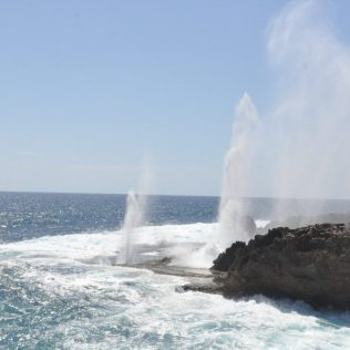 (C) Jule Reiselust: Blowholes am Point Quobba.
