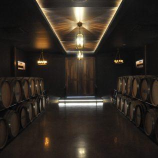 (C) Jule Reiselust: Eindrucksvoll. Eingang zum Weinkeller von Amelia Park.