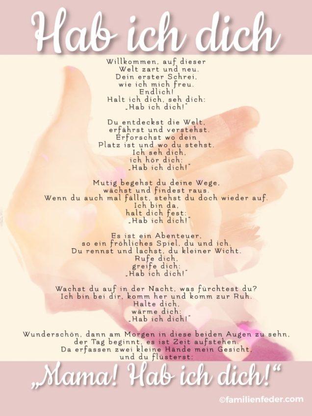 Dich lieb gedicht hab Ich hab