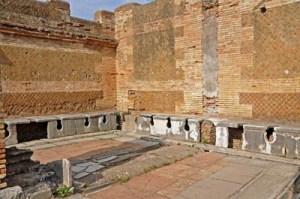 ostia antika toiletten