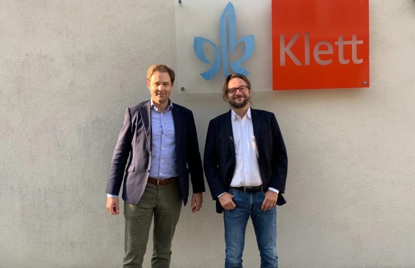 Dr. Marco Henry Neumueller mit Dr. David Klett der Ernst Klett AG