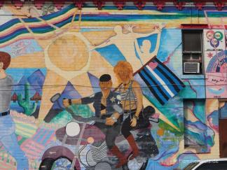 Dykes on bikes im Castro Viertel, Kalifornien