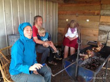 1.Weihnachtstag: Asado auf dem Land bei Familie Neumann