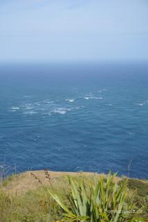Tasmanischer Ozean und Pazifik treffen aufeinander