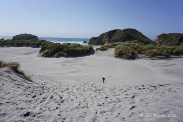 Wharariki Beach, an der Nordspitze der Südinsel