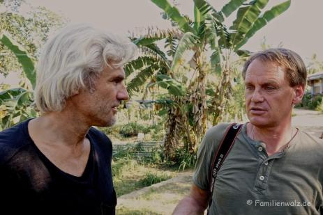 Bobby Dekeyser und Markus Wasmeier im Compostela-Village