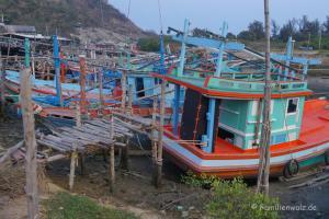 Elefanten, Strand und wilde Affen - Fischerei-Hafen von Hua Hin