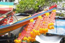 geschmücktes Touristen-Boot