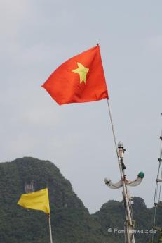 Unter vietnamesischer Flagge