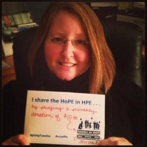 #unselfie #givingTuesday #holoprosencephaly #familiesforhope