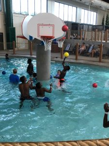 basketball at Great Wolf Lodge water park