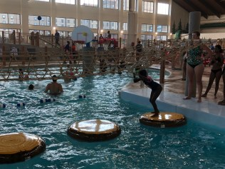 Stump crossing at Great Wolf Lodge water park