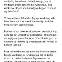 """Åbent brev til Gyldendal ang. """"Godnat og Sov Godt"""""""