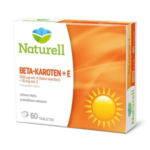 NATURELL, Beta-karoten + E, 60 tabletek