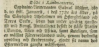 Inrikes Tidningar 21/2 1780.
