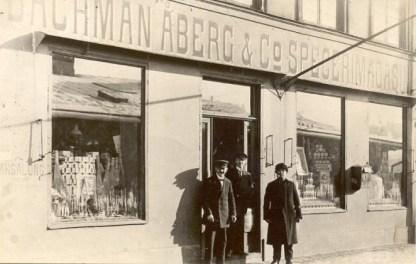 Bachman, Åberg & Co. på Munkbrogatan 6. Vänligen inskickat av Marie-Louise Bachman.