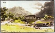 Mandioca på en målning av Th. Ender 1817-1818.