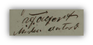 Läkaren Adolf Fredrik Alfort (1779-1854) [1.2.11.3], som införde namnformen Alfort utan h. Namnteckning från 1823.