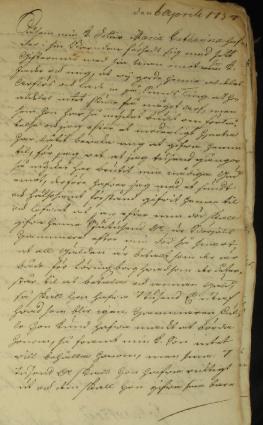 Maria Sophias testamente 1754