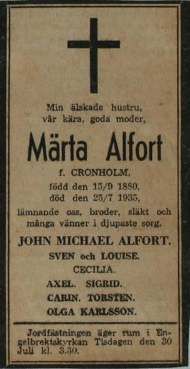 Svenska Dagbladet 1935.