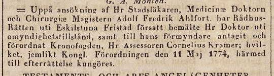 Sveriges Stats-Tidning 24/1 1844.