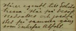 Prästens notat vid begravningen: Hörer egentl. till Eskilstuna. Här på besök, nedsattes och jordfästes på samma gång som Enkefru Alfort. Maria Magdalena församling.