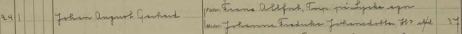 Johns dop 1865. Malexander församling.