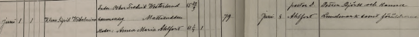 Klara Sigrid Wilhelminas dop 1895. Vittnen: Petter Björk och Hanna Lundmark samt föräldrarne. Jokkmokks församling.