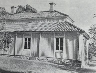 Liljeholmens corps de logi från trädgårdssidan 1943. Foto: Nordiska Museet.