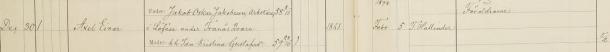 Axel Einars dop 1897. Dopvittnen: Föräldrarne. Säby församling.