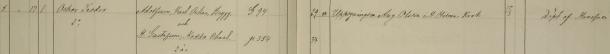 Oskar Teodors dop 1889. Vittnen: Uppsyningsm. Aug. Olsson o H. Hilma Krok. Vadstena församling.