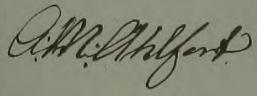 Anna Marias namnteckning 1841 när hennes mamma dött.