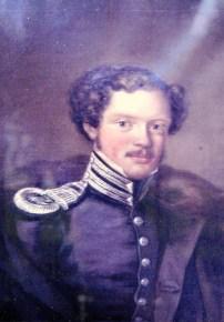 David Vilhelm Pontin. Foto vänligen inskickat av Martin Giertz. Målningen finns i Torpa prästgård.