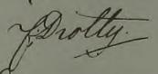 Fredriks namnteckning 1841 när Ingrid Busser dött.