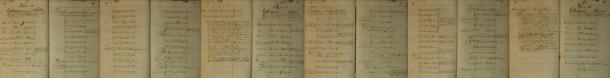 Dokumentation rörande Gabriel Ahlforts handelsresor till Riga och Stralsund med lastdragaren Solen 1726. Flottans Arkiv.